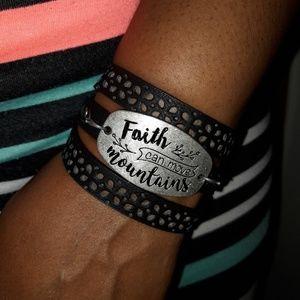 NEW Faith can move Mountains Wrap Bracelet